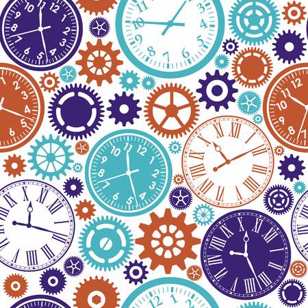 orologio da parete: Clock`s seamless. Texture di colore di tempo. Vettoriali
