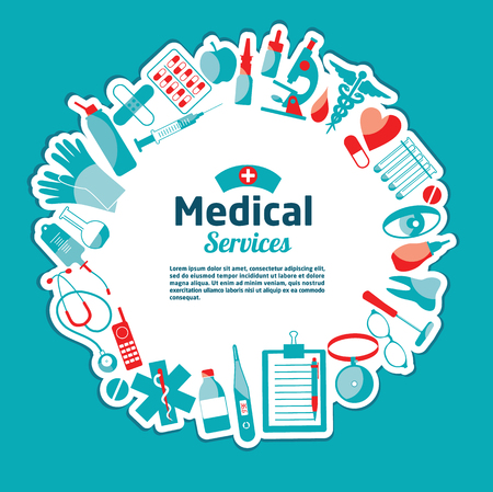 vector medical: Medical vector illustration of tools.