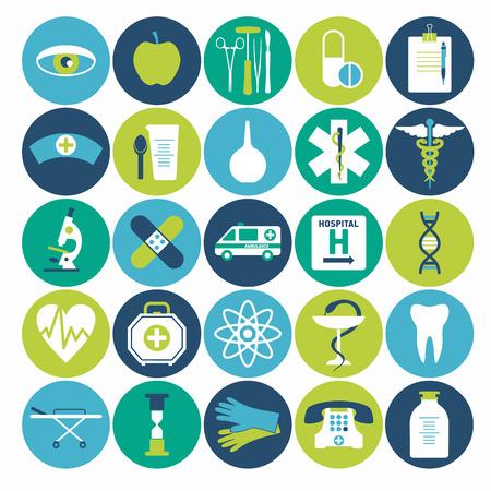 instrumental medico: Conjunto de iconos médica. Vectores