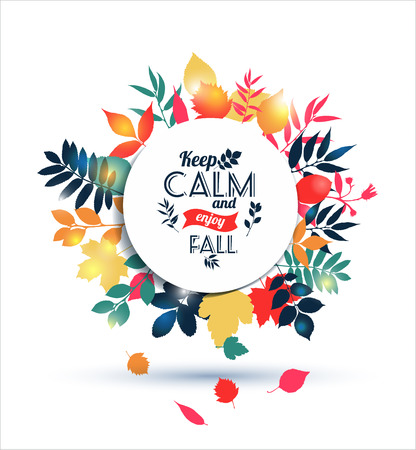 Vector Illustration of autumn.