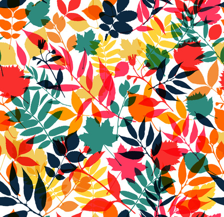 fall leaves: Seamless pattern of autumn