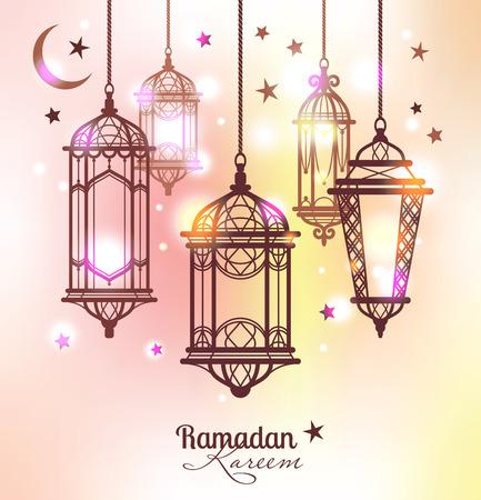 라마단 카림. 이슬람 배경. 라마단 램프
