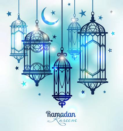 LAMP: Ramadan Kareem. Islamic background. lamps for Ramadan