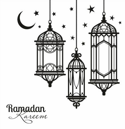 라마단 카림. 이슬람 배경입니다.