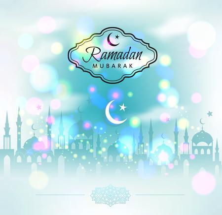 Ramadan Kareem de fond abstrait. Vecteurs