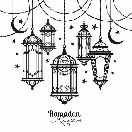 Ramadan Kareem. Islamitische achtergrond.