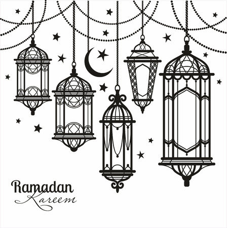 рамадан: Рамадан Карим. Исламская фон. Иллюстрация