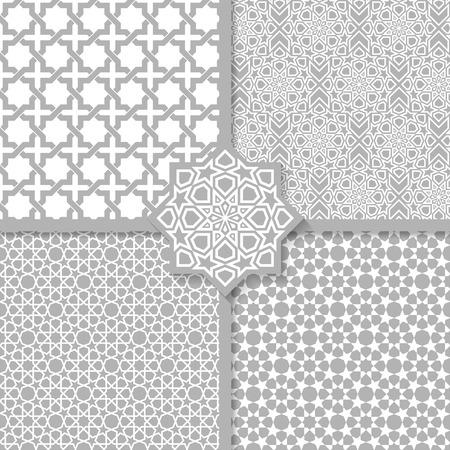 원활한 이슬람 패턴을 설정합니다 일러스트