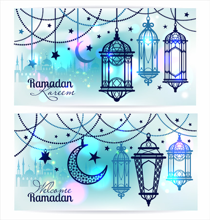 Ramadan Kareem. Islamic background. Banners for Ramadan