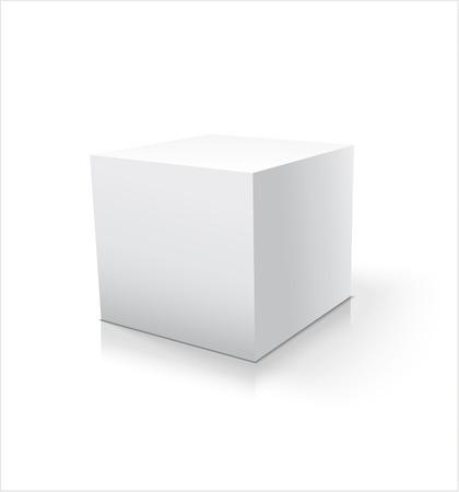 Box white icon. Template for your design.