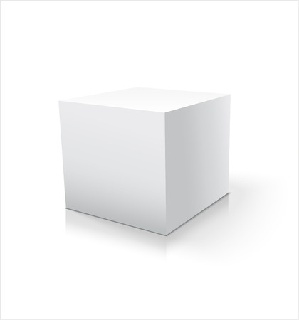 Box white icon. Template for your design.