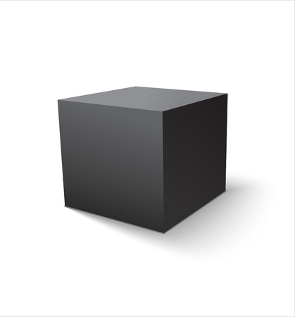 black a: Box black icon. Template for your design. Vector illustration.