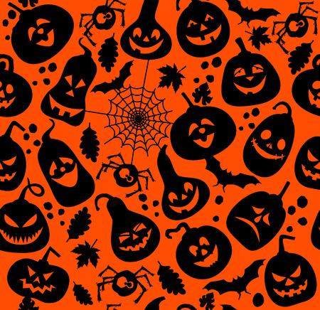 Seamless pattern of halloween.Vector illustration.
