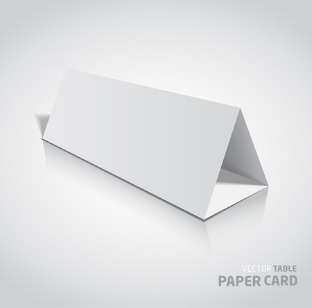 assign: 3d table paper card isolated on a grey background. Vector realistic.