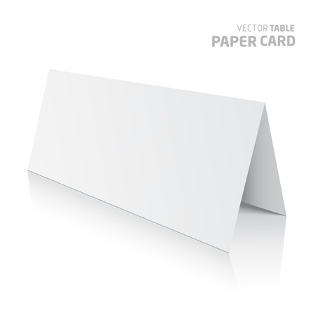 assign: 3d table paper card isolated on a white background. Vector realistic. Illustration