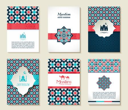 Banners set van islamitische.