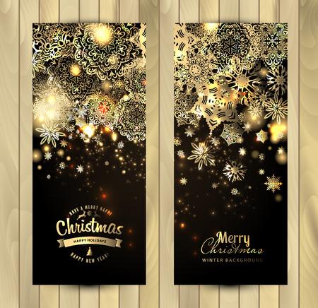 christmas wallpaper: Snowflake background. Vector holiday backdrop. Set of christmas banners.