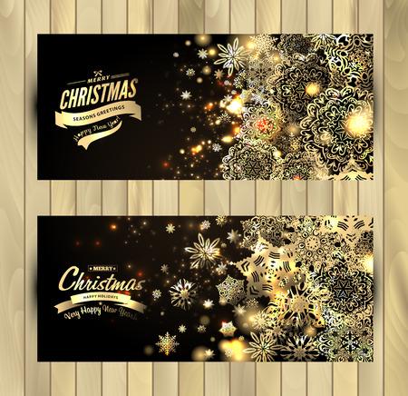 눈송이 배경. 벡터 휴일 배경입니다. 크리스마스 배너의 집합입니다.