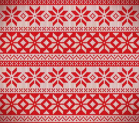 holliday: Christmas nordic seamless knitting illustration Illustration