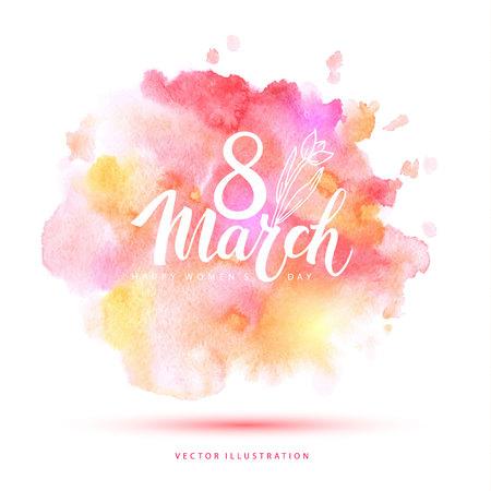 barvitý: 8.března akvarel kartu.