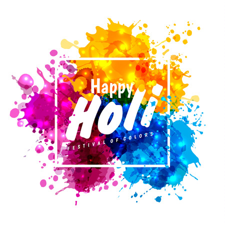 홀리 봄 색상 디자인 요소 및 기호 holi 봄 축제. 배너, 초대장 및 축하 카드에 사용할 수 있습니다.