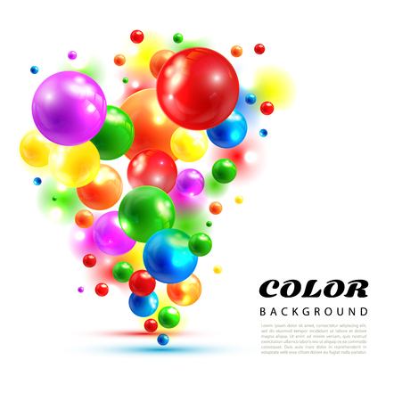 color abstract background from volume balls