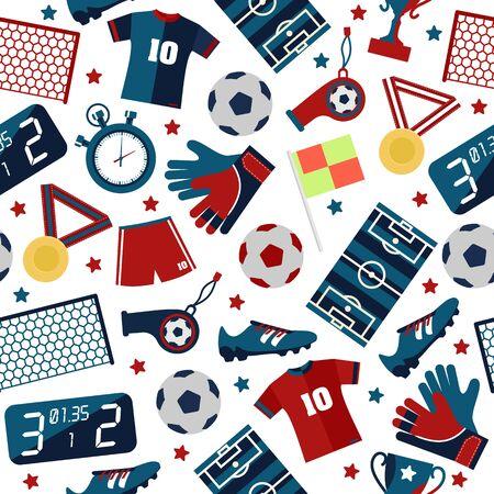judge players: Sport football seamless pattern Illustration