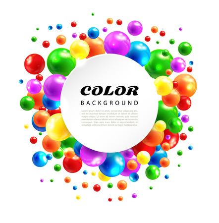 light backround: color abstract background from volume balls