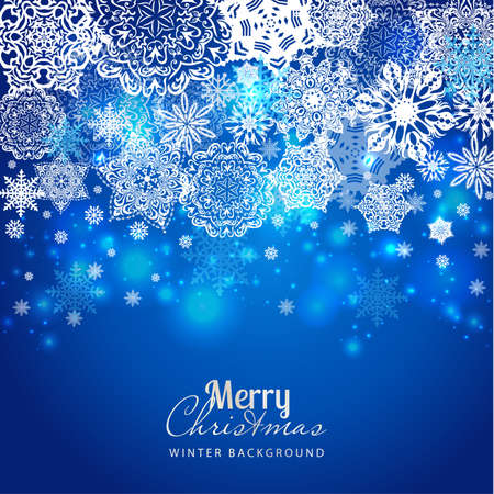 holiday background: Snowflake background. Vector holiday backdrop Illustration