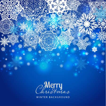 christmas flyer background: Snowflake background. Vector holiday backdrop Illustration