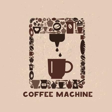 cofee: Cofee machine icon set of small icons.