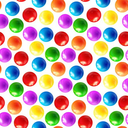 3d ball: Background with balls seamless, vector Illustration