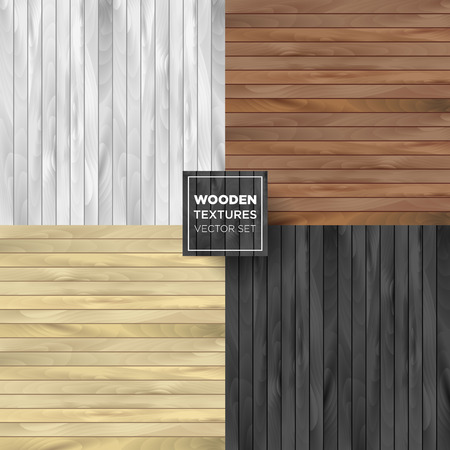 wooden color: Wooden set of different color. Vector collection illustrations. Illustration