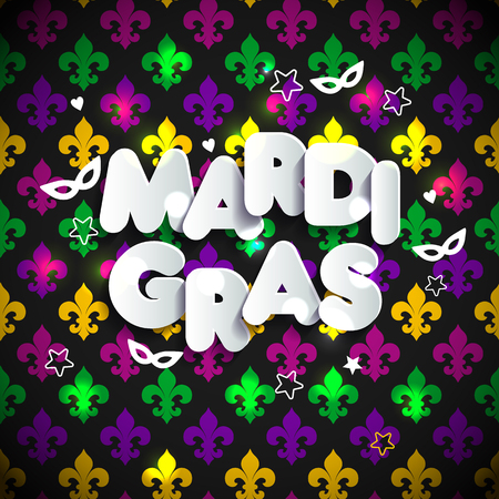 Mardi Gras decoration. seamless pattern