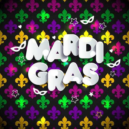 Mardi Gras decoration. seamless pattern