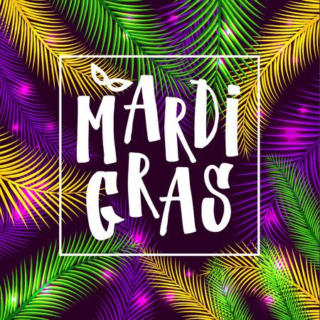 Mardi gras invitation card design vector illustration