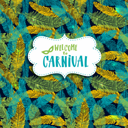Carnival vector background. Seamless abstract colors pattern