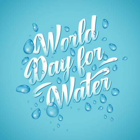 Letras del día de Worl para aguas