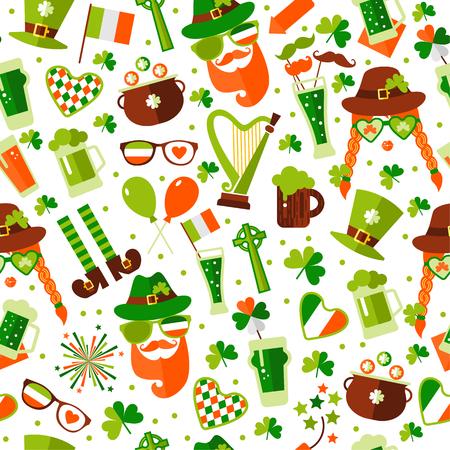 Modèle sans couture pour la Saint-Patrick