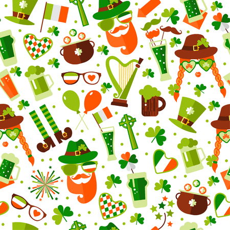 Seamless pattern for Saint Patricks day Ilustracja