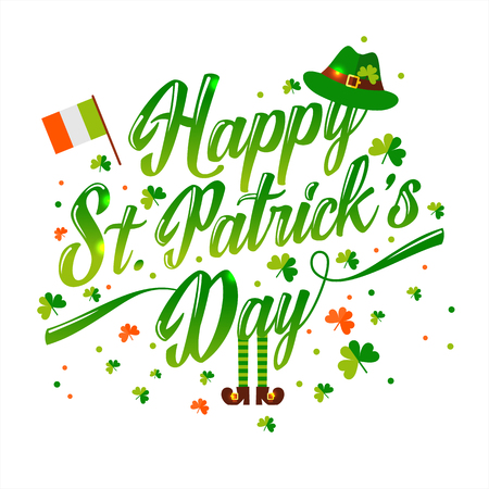 Saint Patrick s day background in green Ilustração