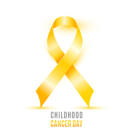 Childhood Cancer Day with singe ribbon design Stock Vector - 95608363