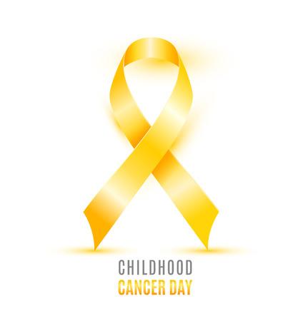 Childhood Cancer Day with singe ribbon design Illustration