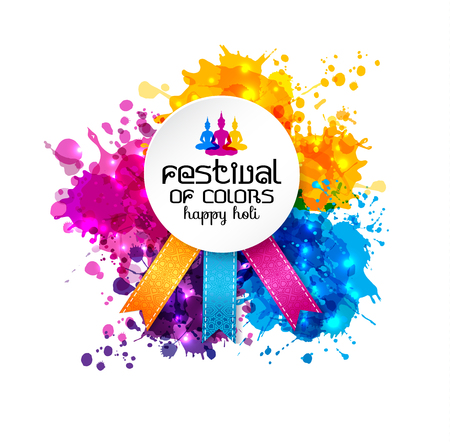 Holi spring festival of colors vector design element and sign 版權商用圖片 - 95997347