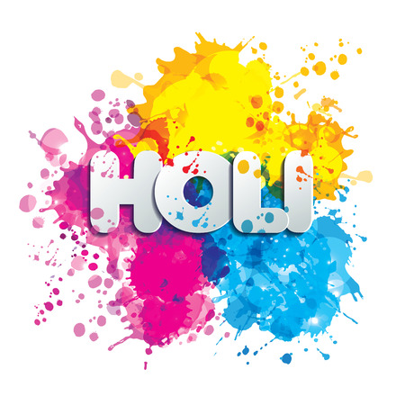 Holi spring festival of colors vector design element and sign holi