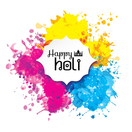 Holi spring festival of colors vector design element and sign
