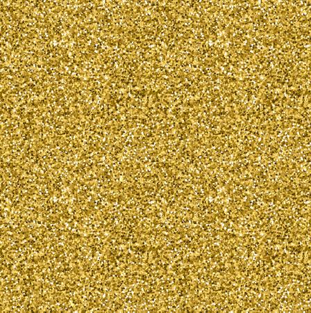 Gold glitter seamless texture. Ilustrace