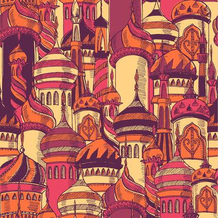 モスクのシルエットの模様