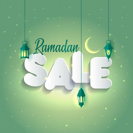 Vector Illustration Ramadan Sale. Banner, Discount label Sale