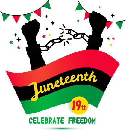 Juneteenth day background celebration of 19 June